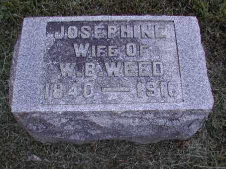 WEED, JOSEPHINE - Gallia County, Ohio   JOSEPHINE WEED - Ohio Gravestone Photos