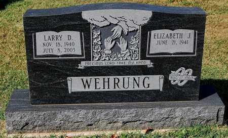 WEHRUNG, ELIZABETH J - Gallia County, Ohio | ELIZABETH J WEHRUNG - Ohio Gravestone Photos