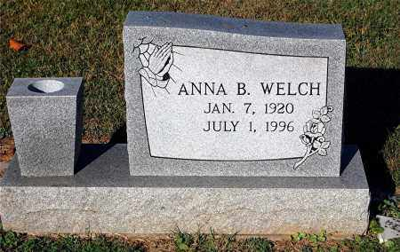 WELCH, ANNA B - Gallia County, Ohio   ANNA B WELCH - Ohio Gravestone Photos