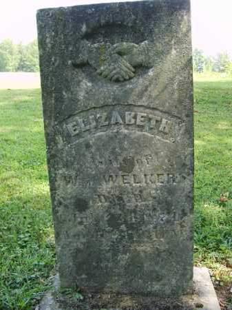 WELKER, ELIZABETH - Gallia County, Ohio   ELIZABETH WELKER - Ohio Gravestone Photos