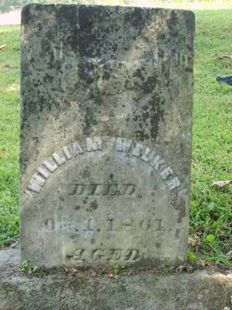 WELKER, WILLIAM - Gallia County, Ohio | WILLIAM WELKER - Ohio Gravestone Photos