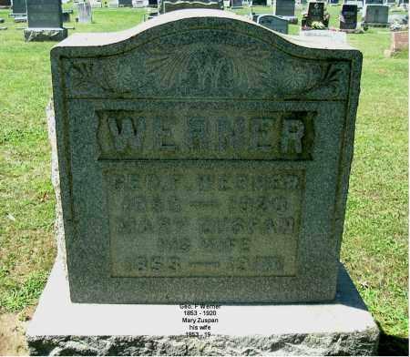 ZUSPAN WERNER, MARY - Gallia County, Ohio | MARY ZUSPAN WERNER - Ohio Gravestone Photos