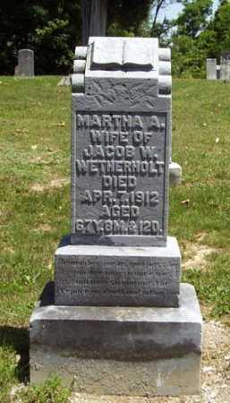 WETHERHOLT, MARTHA ANN - Gallia County, Ohio | MARTHA ANN WETHERHOLT - Ohio Gravestone Photos