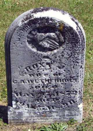 WETHERHOLT, ROXY J. - Gallia County, Ohio | ROXY J. WETHERHOLT - Ohio Gravestone Photos