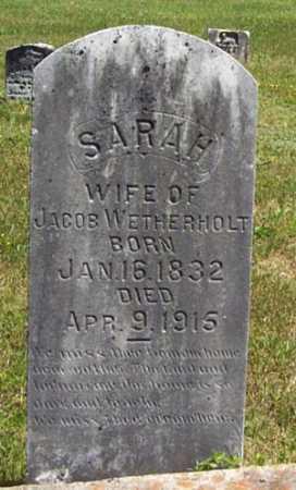 WETHERHOLT, SARAH - Gallia County, Ohio | SARAH WETHERHOLT - Ohio Gravestone Photos