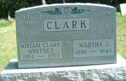 CLARK, MARTHA J. - Gallia County, Ohio | MARTHA J. CLARK - Ohio Gravestone Photos