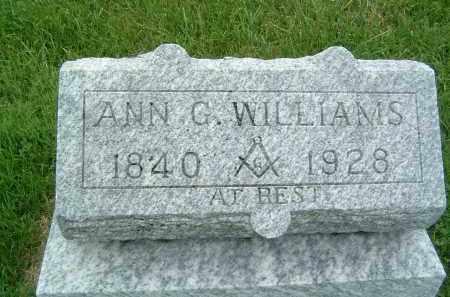 WILLIAMS, ANN G. - Gallia County, Ohio | ANN G. WILLIAMS - Ohio Gravestone Photos