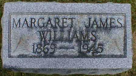 JAMES WILLIAMS, MARGARET - Gallia County, Ohio   MARGARET JAMES WILLIAMS - Ohio Gravestone Photos