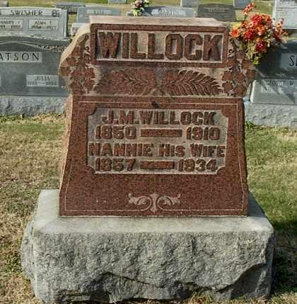 WILLOCK, NANNIE - Gallia County, Ohio | NANNIE WILLOCK - Ohio Gravestone Photos