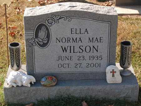 WILSON, ELLA NORMA MAE - Gallia County, Ohio | ELLA NORMA MAE WILSON - Ohio Gravestone Photos