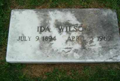 WILSON, IDA - Gallia County, Ohio | IDA WILSON - Ohio Gravestone Photos
