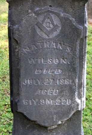 WILSON, NATHAN S (CLOSE-UP) - Gallia County, Ohio   NATHAN S (CLOSE-UP) WILSON - Ohio Gravestone Photos