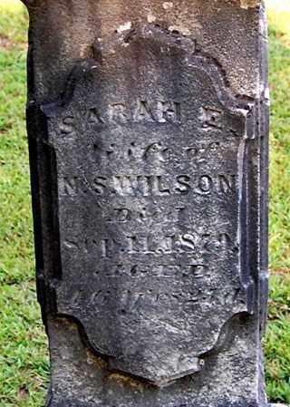 WILSON, SARAH E (CLOSE-UP) - Gallia County, Ohio | SARAH E (CLOSE-UP) WILSON - Ohio Gravestone Photos