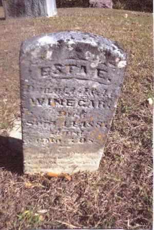 WINEGAR, ESTA E. - Gallia County, Ohio   ESTA E. WINEGAR - Ohio Gravestone Photos