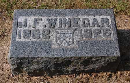 WINEGAR, J. F. - Gallia County, Ohio   J. F. WINEGAR - Ohio Gravestone Photos