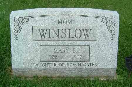 GATES WINSLOW, MARY E. - Gallia County, Ohio | MARY E. GATES WINSLOW - Ohio Gravestone Photos