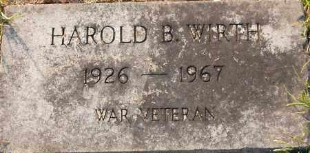 WIRTH, HAROLD B - Gallia County, Ohio | HAROLD B WIRTH - Ohio Gravestone Photos
