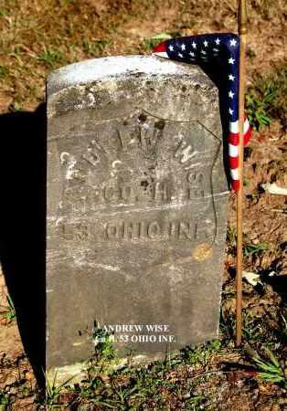 WISE, ANDREW - Gallia County, Ohio   ANDREW WISE - Ohio Gravestone Photos