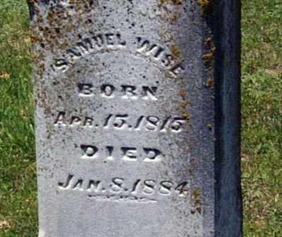 WISE, SAMUEL - Gallia County, Ohio | SAMUEL WISE - Ohio Gravestone Photos