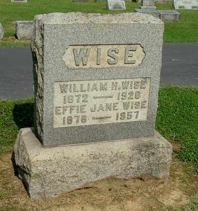 WISE, WILLIAM H - Gallia County, Ohio | WILLIAM H WISE - Ohio Gravestone Photos