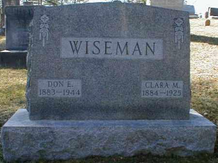 MORAN WISEMAN, CLARA - Gallia County, Ohio | CLARA MORAN WISEMAN - Ohio Gravestone Photos