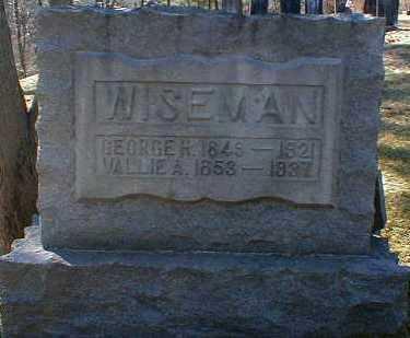 MORROW WISEMAN, VALLIE - Gallia County, Ohio | VALLIE MORROW WISEMAN - Ohio Gravestone Photos