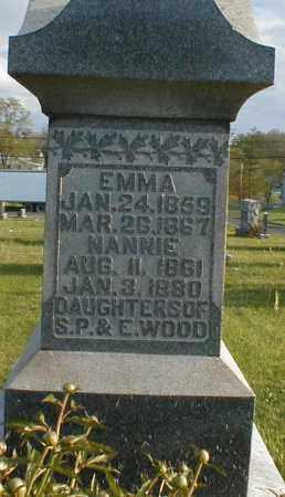 WOOD, NANNIE - Gallia County, Ohio | NANNIE WOOD - Ohio Gravestone Photos