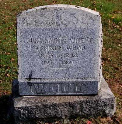 WOOD, LAURA - Gallia County, Ohio | LAURA WOOD - Ohio Gravestone Photos