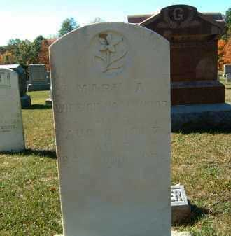 WOOD, MARY A - Gallia County, Ohio   MARY A WOOD - Ohio Gravestone Photos