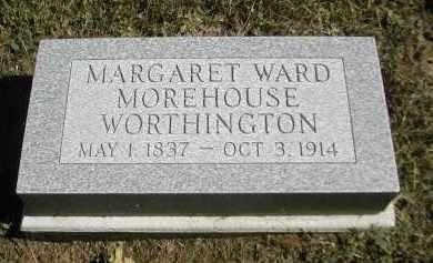 WARD WORTHINGTON, MARGARET - Gallia County, Ohio   MARGARET WARD WORTHINGTON - Ohio Gravestone Photos