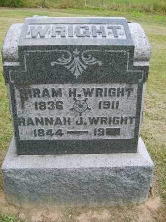 WRIGHT, HIRAM - Gallia County, Ohio | HIRAM WRIGHT - Ohio Gravestone Photos