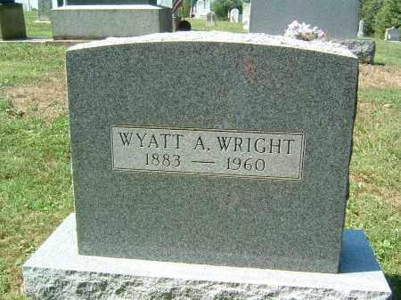 WRIGHT, WYATT A - Gallia County, Ohio   WYATT A WRIGHT - Ohio Gravestone Photos
