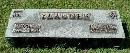 YEAUGER, GEORGE W - Gallia County, Ohio | GEORGE W YEAUGER - Ohio Gravestone Photos