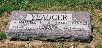 NEAL YEAUGER, MARY FRANCES - Gallia County, Ohio | MARY FRANCES NEAL YEAUGER - Ohio Gravestone Photos