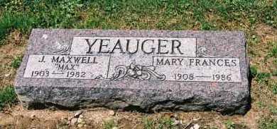 YEAUGER, MARY FRANCES - Gallia County, Ohio | MARY FRANCES YEAUGER - Ohio Gravestone Photos