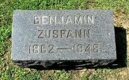 ZUSPANN, BENJAMIN - Gallia County, Ohio | BENJAMIN ZUSPANN - Ohio Gravestone Photos