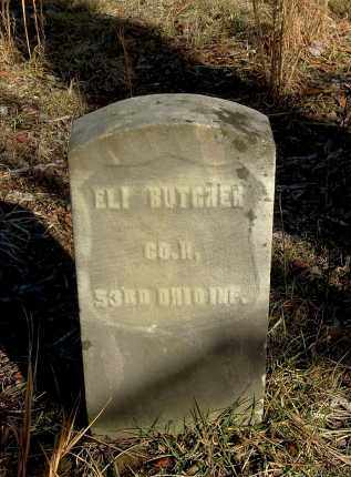 BUTCHER, ELI - Gallia County, Ohio | ELI BUTCHER - Ohio Gravestone Photos