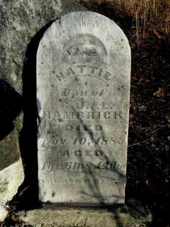 HAMBRICK, HATTIE - Gallia County, Ohio   HATTIE HAMBRICK - Ohio Gravestone Photos