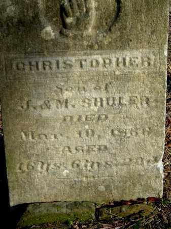 SHULER, CHRISTOPHER - Gallia County, Ohio   CHRISTOPHER SHULER - Ohio Gravestone Photos