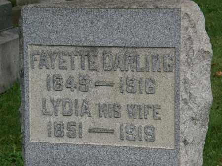 DARLING, FAYETTE - Geauga County, Ohio | FAYETTE DARLING - Ohio Gravestone Photos