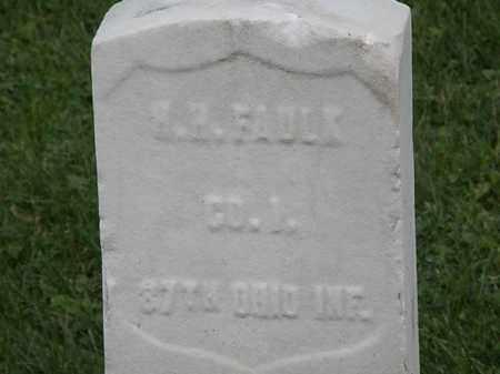 FAULK, H.H. - Geauga County, Ohio | H.H. FAULK - Ohio Gravestone Photos