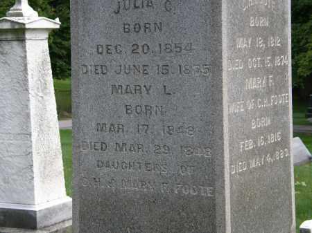FOOTE, MARY - Geauga County, Ohio | MARY FOOTE - Ohio Gravestone Photos