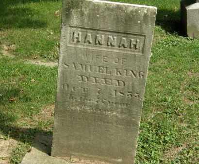 KING, HANNAH - Geauga County, Ohio | HANNAH KING - Ohio Gravestone Photos