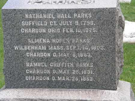 PARKS, SAMUEL GRIFFITH - Geauga County, Ohio | SAMUEL GRIFFITH PARKS - Ohio Gravestone Photos