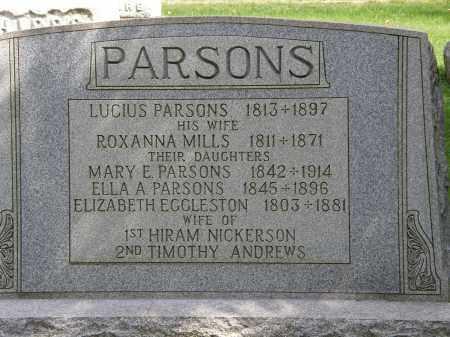 PARSONS, ELLA A. - Geauga County, Ohio | ELLA A. PARSONS - Ohio Gravestone Photos