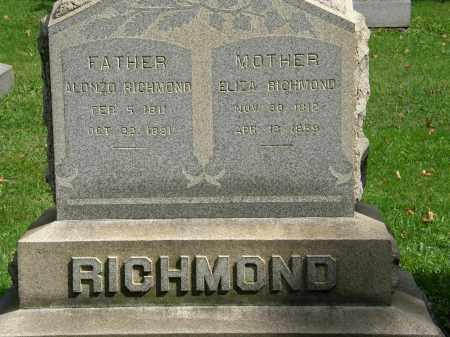 RICHMOND, ELIZA - Geauga County, Ohio   ELIZA RICHMOND - Ohio Gravestone Photos