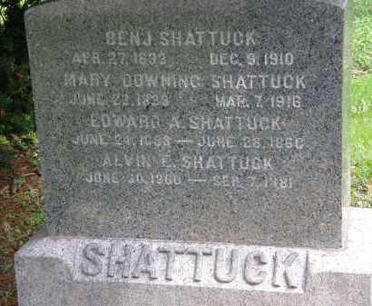 SHATTUCK, BEN'J. - Geauga County, Ohio | BEN'J. SHATTUCK - Ohio Gravestone Photos