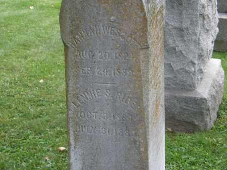 WESCOTT, HANNAH - Geauga County, Ohio | HANNAH WESCOTT - Ohio Gravestone Photos