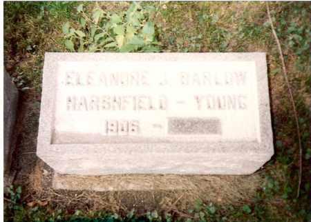 BARLOW-HARSHFIELD-YOUNG, ELEANORE - Greene County, Ohio | ELEANORE BARLOW-HARSHFIELD-YOUNG - Ohio Gravestone Photos