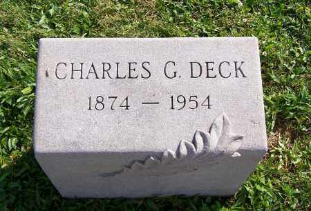 DECK, CHARLES G. - Greene County, Ohio | CHARLES G. DECK - Ohio Gravestone Photos